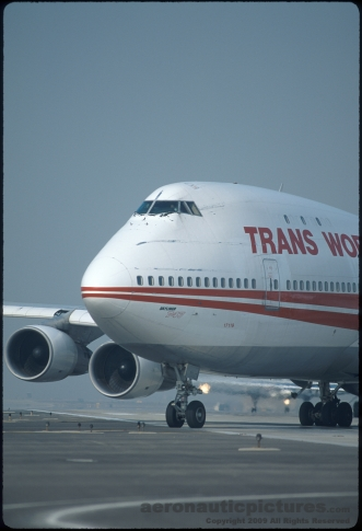 TWA Flight 800 Boeing 747 Stock Photo