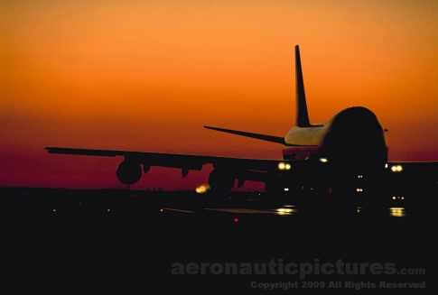 boeing b-747 photo LAX airport picture