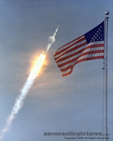 apollo 11 rocket stock photo