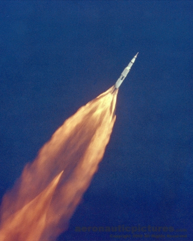 apollo 11 saturn v rocket stock photo