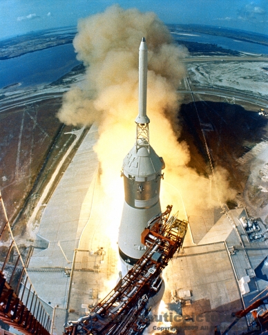 apollo 11 launch stock photo