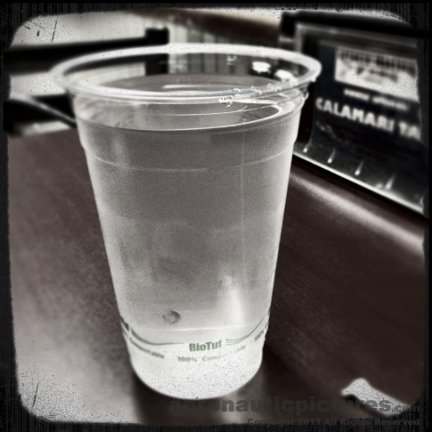 Vintage Diner Photo - Biodegradable Water Glass