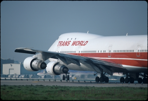 TWA Flight 800 Crash Plane Picture - Boeing 747 - Stock Photo